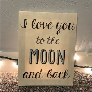 🌙⭐️I love you to the moon and back🌙⭐️canvas!